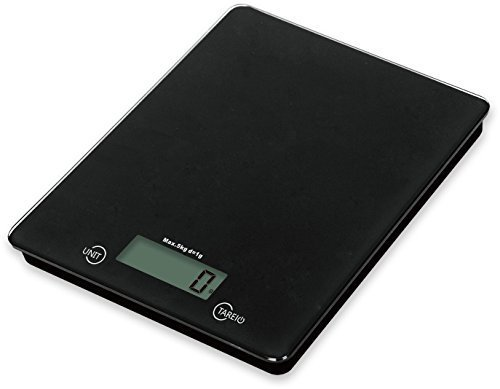 V.C.Formark Tempered Glass Surface Digital Multifunction Kitchen and Food Scale,Black by V.C.Formark