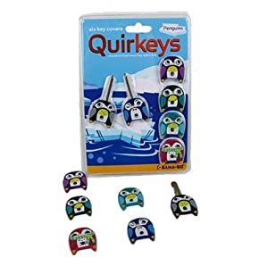 Qiurkeys Penguin Shaped Key Covers Id Caps Identifiers