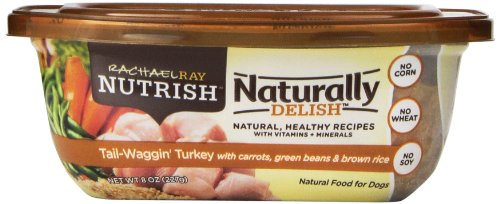 Rachael Ray Nutrish 8-Pack Naturally Delish Wet Dog Food, Tail-Waggin' Turkey Recipe, 8-Ounce