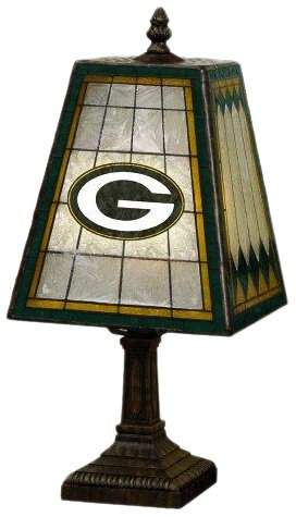 NFL Green Bay Packers 14 Inch Art Glass Lamp