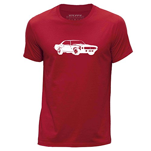 stuff4-hombres-grande-l-rojo-cuello-redondo-de-la-camiseta-plantilla-coche-arte-camaro-ss-mk1