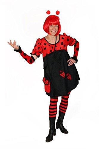 Marienkäfer-Kostüm für Frauen | Größe 40-42, Karnevalskostüm | 2-teiliges Faschingskostüm | Tier-Kostüm