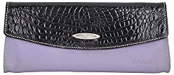 Aamin Womens Clutch (Black and Purple)