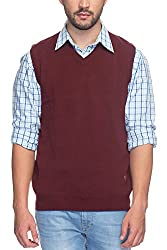 Raymond Men's Synthetic Sweater (8907252534418_RMWY00447-M5_40_Maroon)