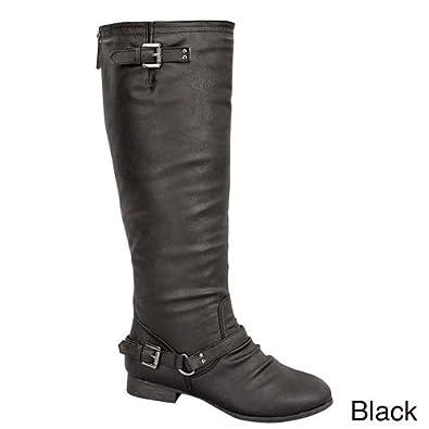Top Moda Women's COCO 1 Knee High Riding Boot,5 B(M) US,Black