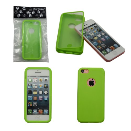 Bear Motion (TM) Premium Full Housing Case for iPhone 5C with Front and Back Protection and Built in Screen Protector for Apple iPhone 5C (Spinach) (Full Housing Iphone 5c Case compare prices)