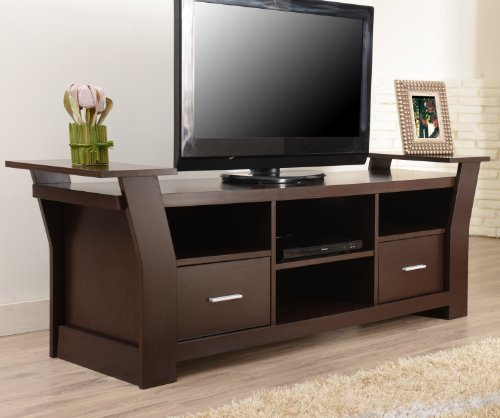 Furniture of America Torena Multi-Storage TV Stand, Walnut