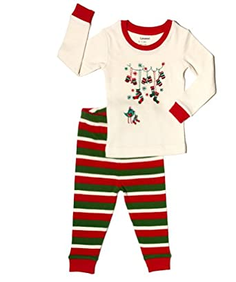 leveret socks 2 piece pajama 100 cotton size 6m 5t christmas collection view recommendations for this product
