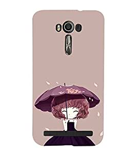 EPICCASE Little Girl with Umbrella Mobile Back Case Cover For Asus Zenfone 2 Laser ZE500KL (Designer Case)