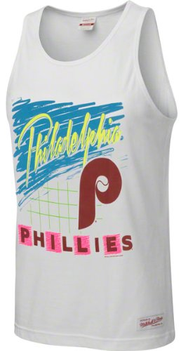 Philadelphia Phillies White Mitchell & Ness Neon Tank Top at Amazon.com