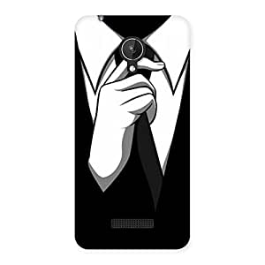 Ajay Enterprises Knotting Tie Multicolor Back Case Cover for Micromax Canvas Spark Q380