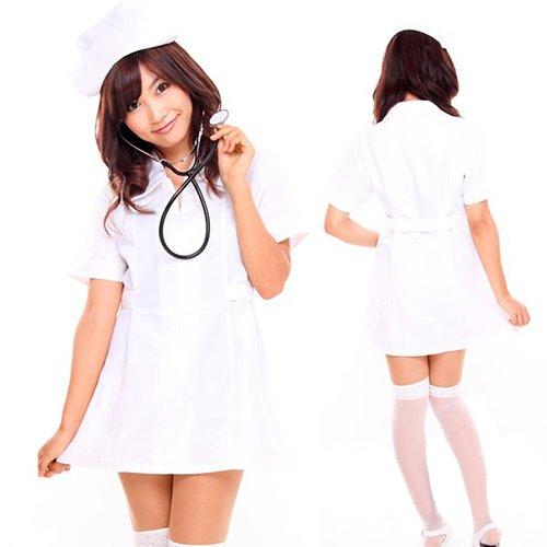 ナース コスプレ ハロウィン 【即日出荷】 看護婦さん コスチューム 衣装 仮装 白 Mサイズ 5225wh