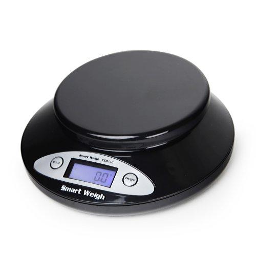 Smart Weigh Balance de cuisine numérique et intelligente CSB2KG avec récipient amovible 2000 g x 0.1 g - Noire