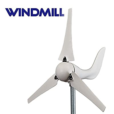 WINDMILL (DB-400) 400W 12V Wind Turbine Generator kit residential, agriculture & marine. Built in MPPT charge controller + automatic and manual breaking system & volt meter. DIY installation providing off-grid green energy power.