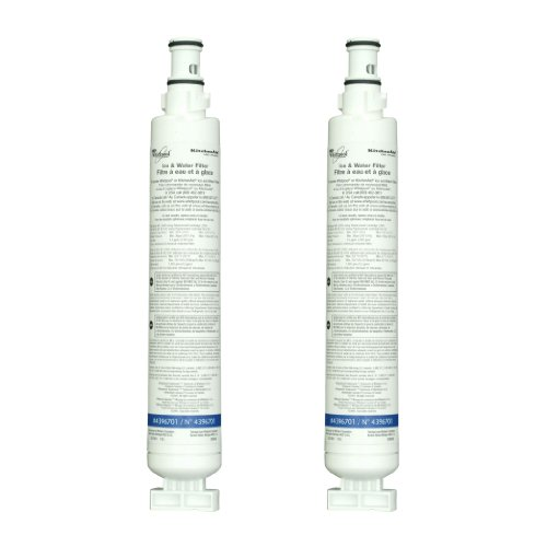 Whirlpool 4396701P Quarter-Turn Top Mount Refrigerator Water Filter 2-Pack