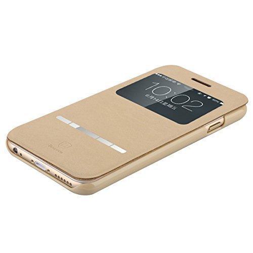 """Copertura della cassa del cuoio sottile leggero Deer Texture PU Ultra per iPhone 6-4.7"""" (cachi)"""