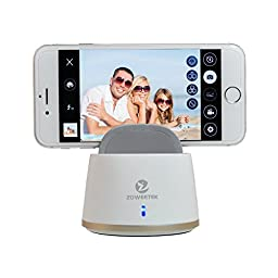 Zoweetek® Fiedora Smart Remote Controller Auto 360-Degree Bluetooth 4.0 Selfie Robot Machine to Self-Timer Picture Video Recoder for IOS Android Phone White