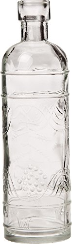 Luna Bazaar Small Vintage Glass Bottle Set (7-Inch, Clear, Set of 6) - Flower Bud Vases Bulk - For Home Decor and Wedding Centerpieces 6