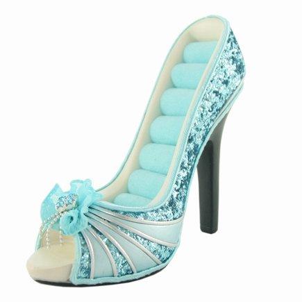 Girlie Glam Peep Toe Shoe Ring Holder front-28719