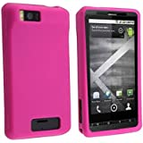 Importer520 Hot Pink Silicone Rubber Gel Soft Skin Case Cover for For Motorola Droid X MB810 / X2 MB870 / Milestone X