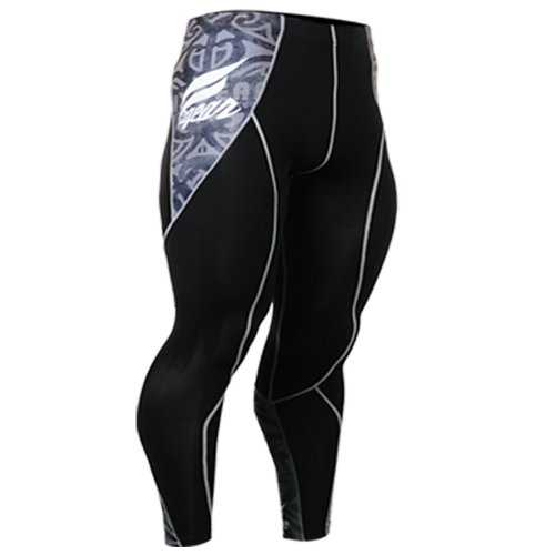 Fixgear Mens Womens Skull Printed Running Compression Tights Pants S ~ 2XL