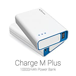Portronics Charge M Plus 10000 mah Power Bank-White