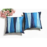 Shahenaz Home Shop Kyrah Zip Zap Zoom Poly Dupion Cushion Cover - Turquoise
