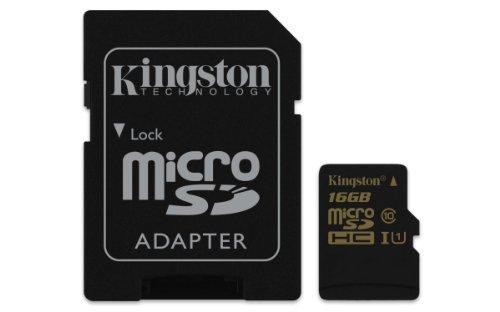 【Amazon.co.jp限定】Kingston 高速microSDHCカード 16GB Class10 UHS-I対応(R:90MB/W45MB) (FFPパッケージ)(永久保証)SDCA10/16GB