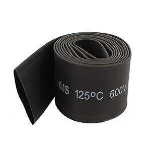 1M 3Ft 20mm Dia Ratio 2:1 Polyolefin Heat Shrinking Tubing Tube Black