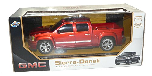 GMC Sierra Denali Pickup Truck 1:24 Friction Series Red (Gmc Truck Scale compare prices)