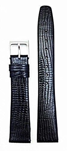Newlife Black, Flat, Tail Lizard Grain 18Mm
