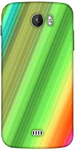 Snoogg Rainbow Power 2400 Designer Protective Back Case Cover For Micromax A110