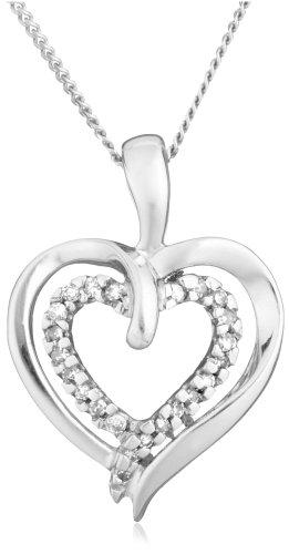 Diamond Pendant Necklace in 9ct White Gold