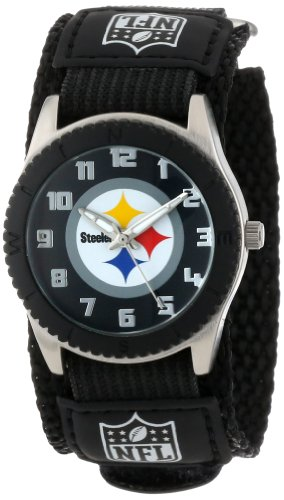Game Time Mid-Size NFL-ROB-PIT Rookie Pittsburgh Steelers Rookie Black Series Watch at Amazon.com