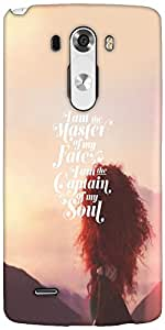 Snoogg Captain Of My Soul Designer Protective Back Case Cover For LG G3