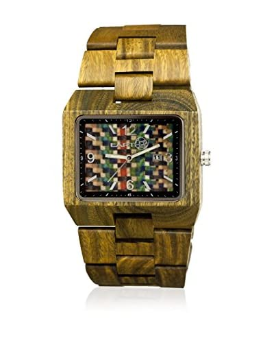 Earth Reloj con movimiento cuarzo japonés Rhizomes Ethew1208  46 mm
