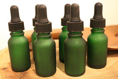 1oz-glass-dropper-bottle-green-frosted-glass-18-count