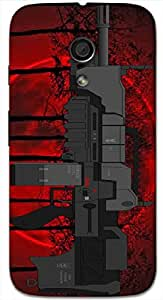 Great 3D multicolor printed protective REBEL mobile back cover for MotoG-2 (2nd Gen ) - D.No-DEZ-1326-motog2