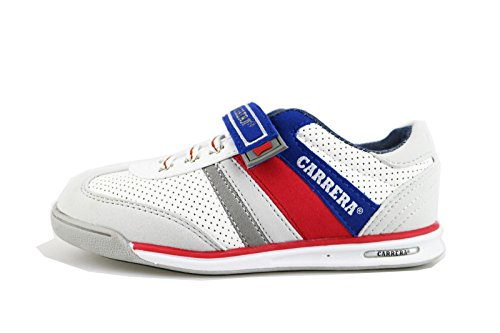 CARRERA JEANS sneakers bambino blu / bianco pelle camoscio (31 EU, Bianco)