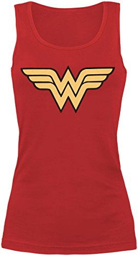 Wonder Woman Logo Top donna rosso S