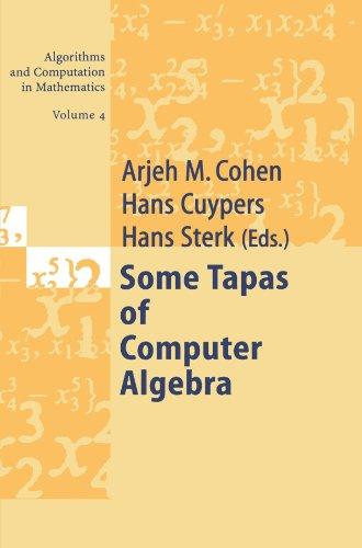 Some Tapas of Computer Algebra (Algorithms and Computation in Mathematics) (Volume 4)