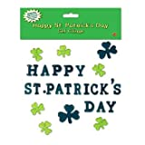 Beistle 33133 Happy St. Patrick s Day Gel Clings Sheet, 7-1 2 by 7-1 2-Inch