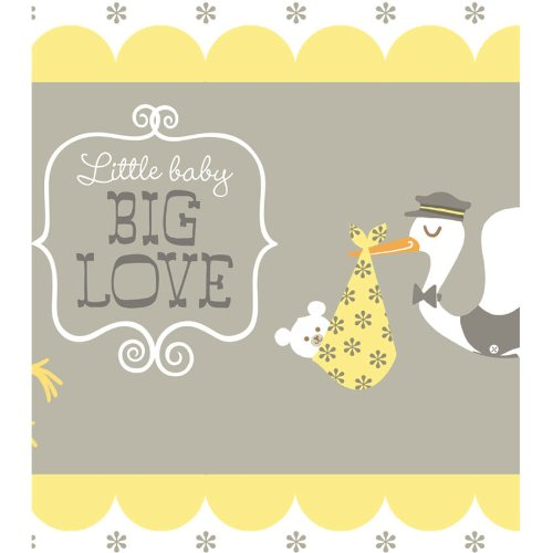 Stork Baby Shower Printed Plastic Tablecover