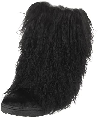 BEARPAW Women's Boetis II Mid-Calf Boot,Black,5 M Us