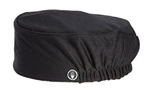Chef Works DFAO-BLK Total Cool Vent Skull Cap Beanie, Black