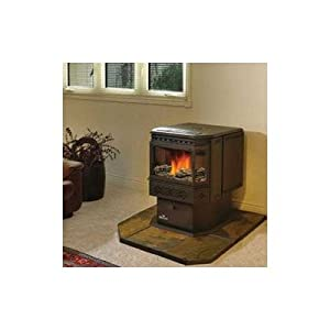 Pellet stove decorative log set by napoleon at the wood burning cooking stoves - Pellet stoves for small spaces set ...