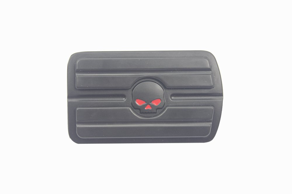 Black Skull Pedal Pad Large For CVO Softail Convertible FLSTSE2 11