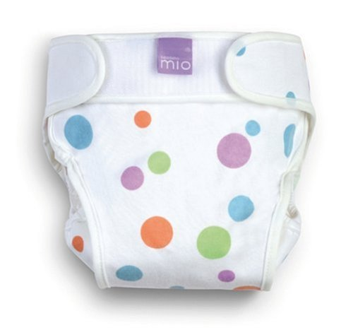 Bambino Mio Miosoft Cloth Diaper Cover - Hook & Loop - Funky Spots - Newborn