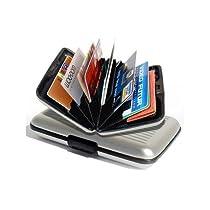 Aluminum credit card wallet RFID blocking case Silver