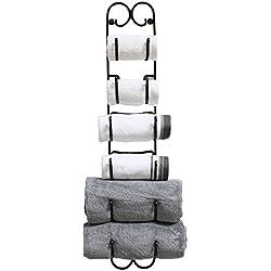 DecoBros Wall Mount Multi-Purpose Towel/Wine/Hat Rack, Bronze